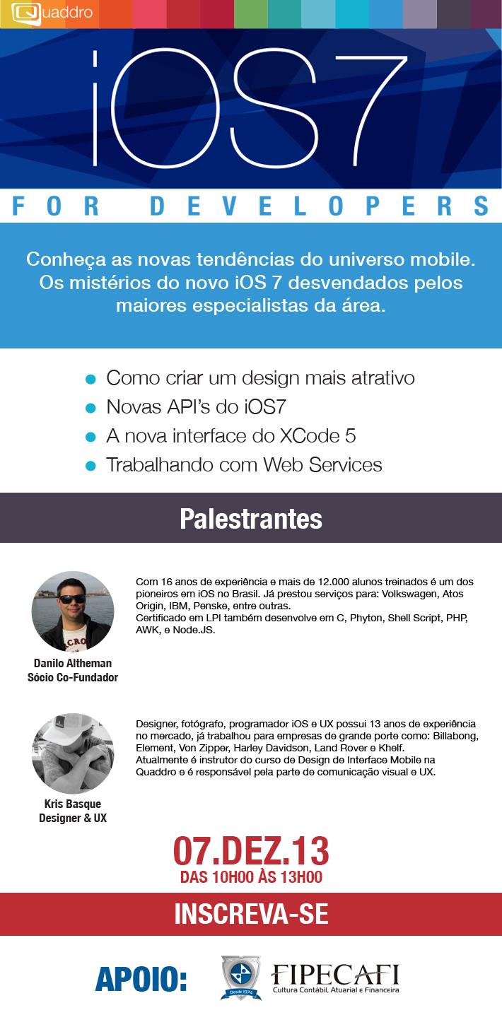 Palestra sobre iOS 7 da Quaddro