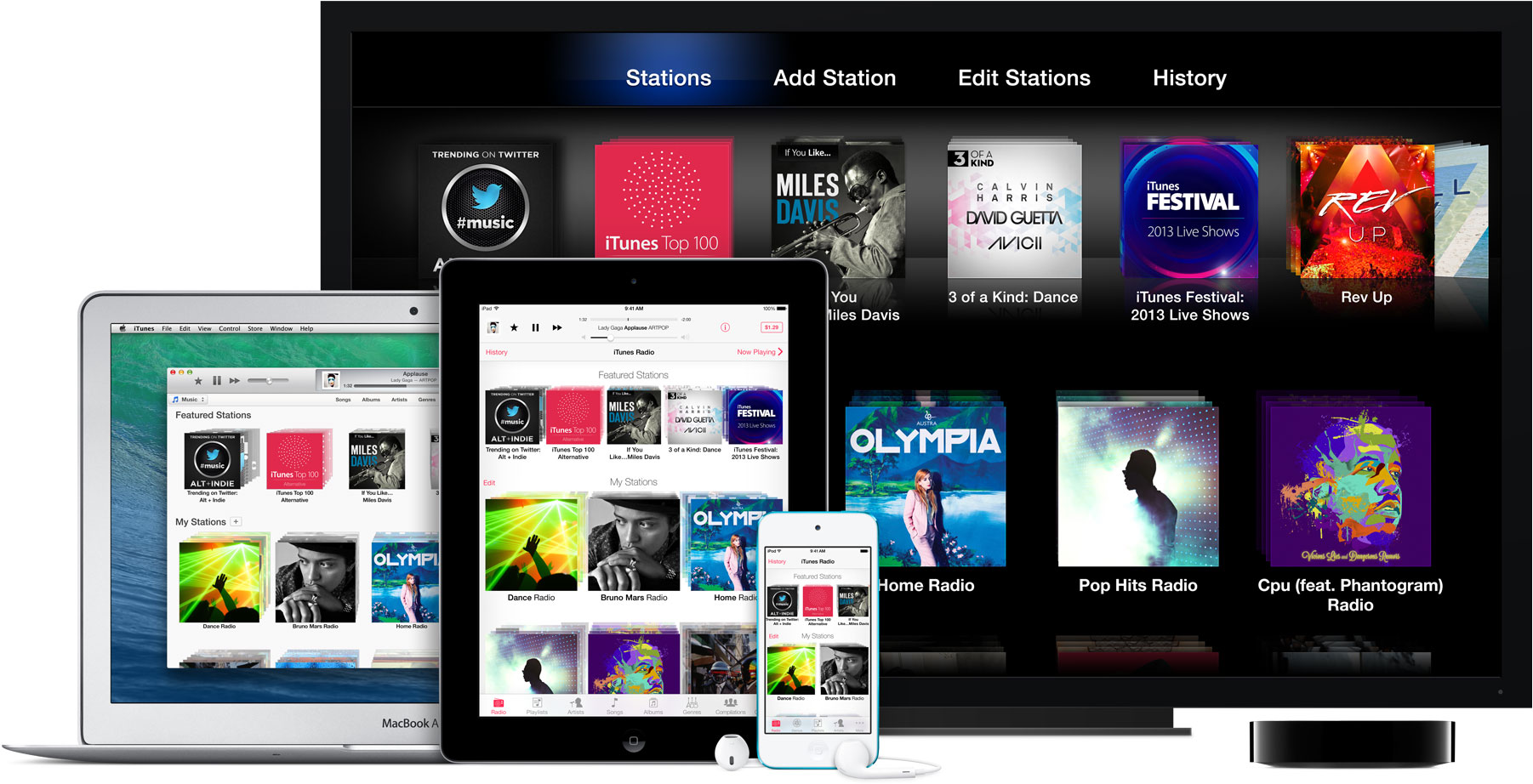 iTunes Radio em vários dispositivos