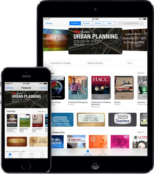 Aplicativo iTunes U para iOS