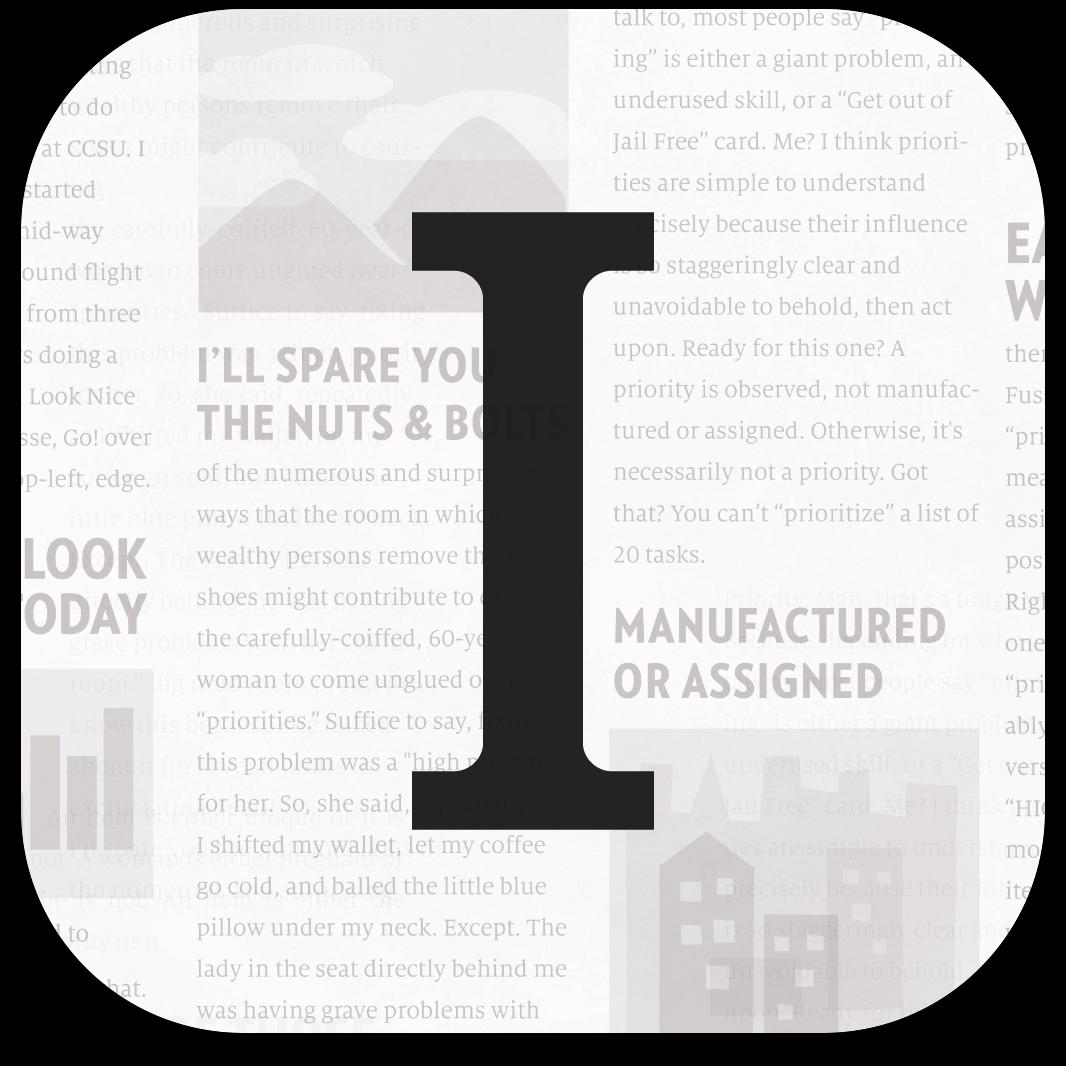 Ícone do app Instapaper para iOS