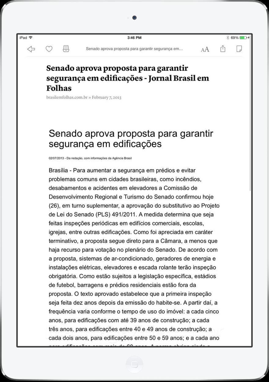 App Instapaper para iOS