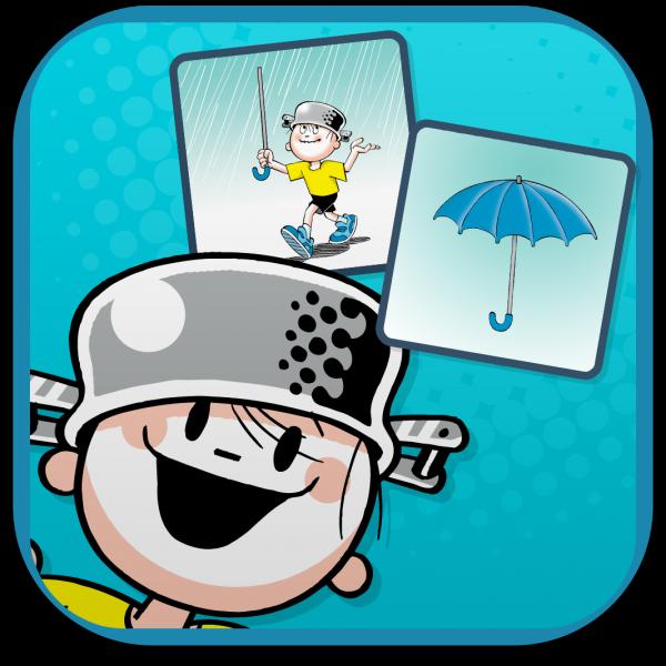 """Ícone do jogo """"O Menino Maluquinho Sem Memória"""" para iPads"""