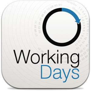 Ícone do app WorkingDays para iPhones/iPods touch