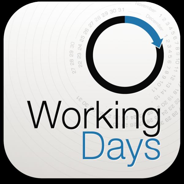 Ícone do app WorkingDays para iPhones/iPods touch