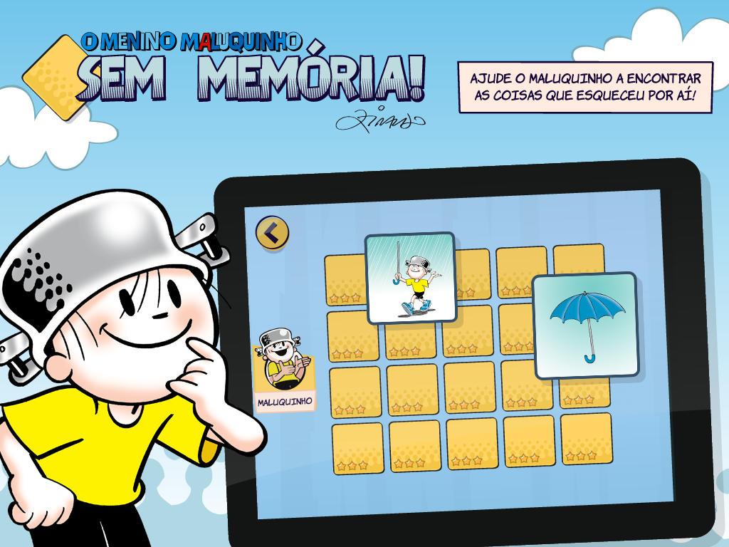 """Jogo """"O Menino Maluquinho Sem Memória"""" para iPads"""