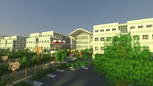 Campus da Apple recriado no Minecraft