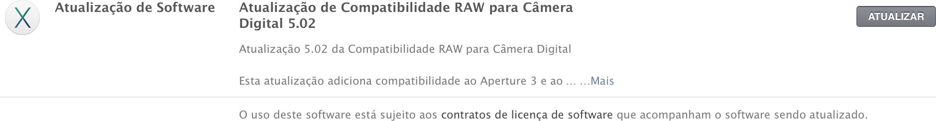 Atualização RAW (versão 5.02)