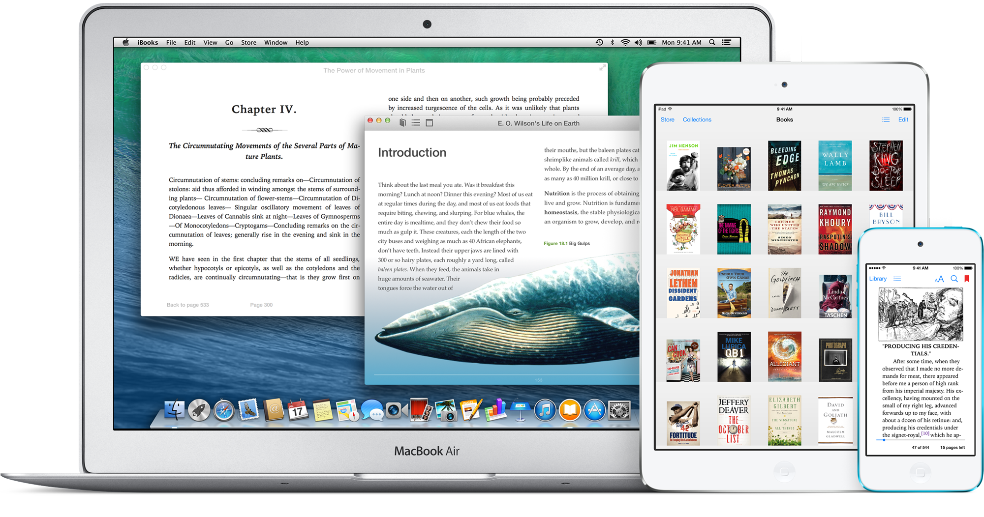 iBooks no Mac, no iPad e no iPod touch