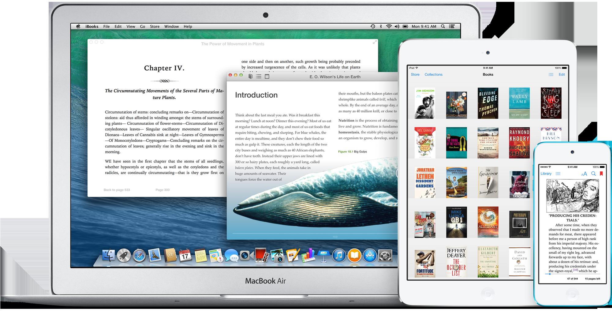 iBooks no Mac, no iPad e no iPod touch