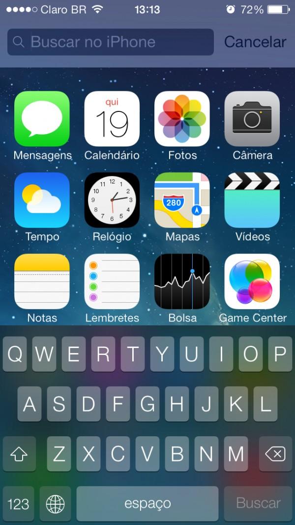 Busca no Spotlight - iOS 7.0.4