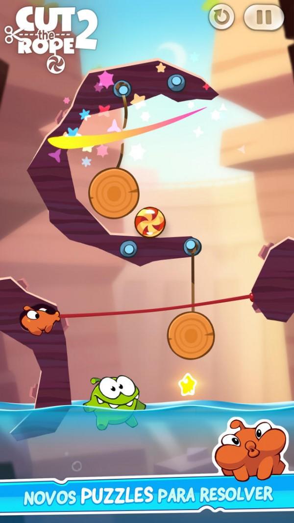 Jogo Cut the Rope 2 para iOS