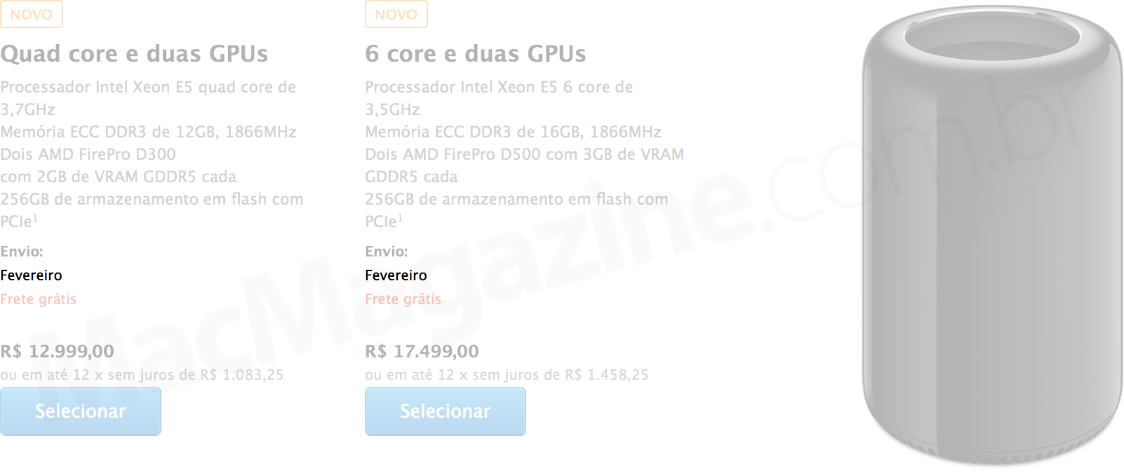 Mac Pro com prazo de entrega para fevereiro