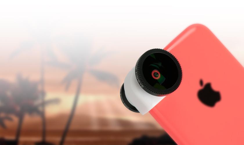 Conjunto de lentes olloclip para iPhones 5c