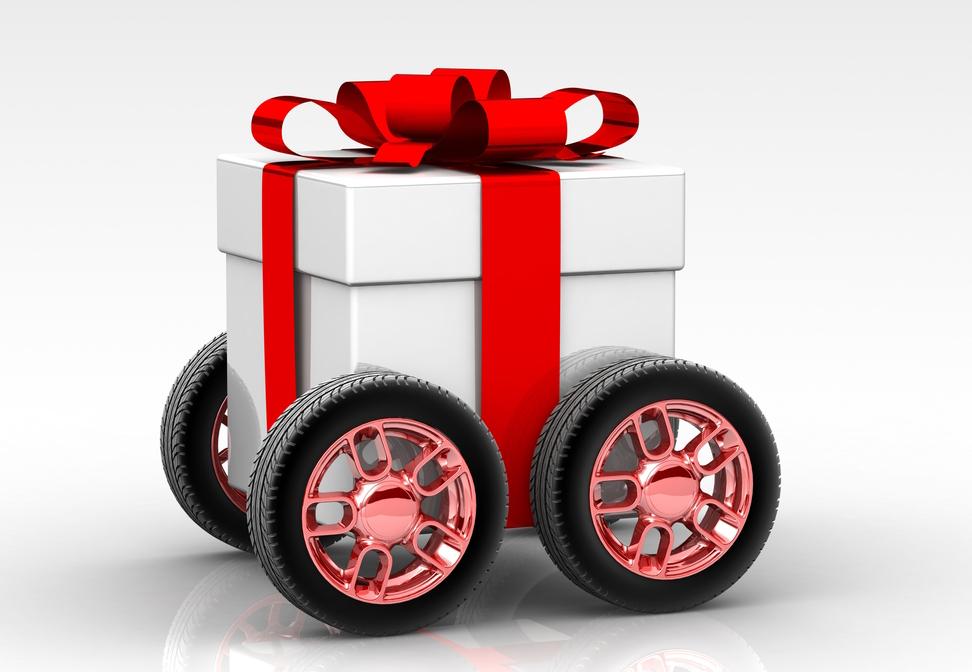 Presente de Natal sobre rodas