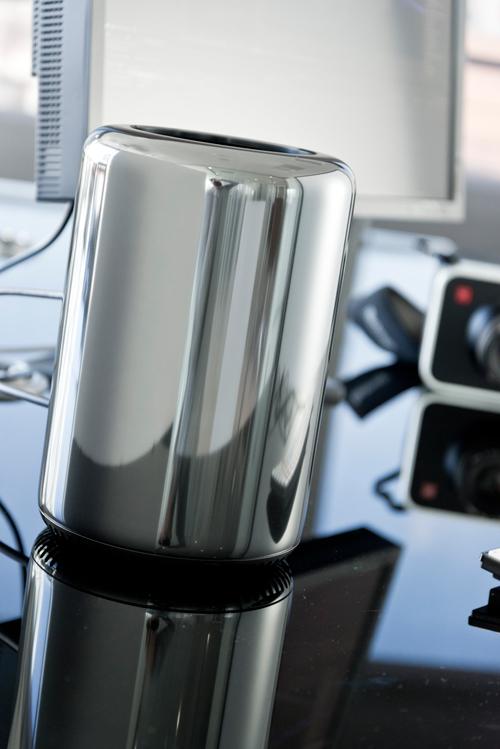 Mac Pro com visual prateado