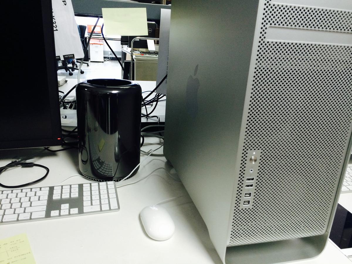 Mac Pro velho vs. novo