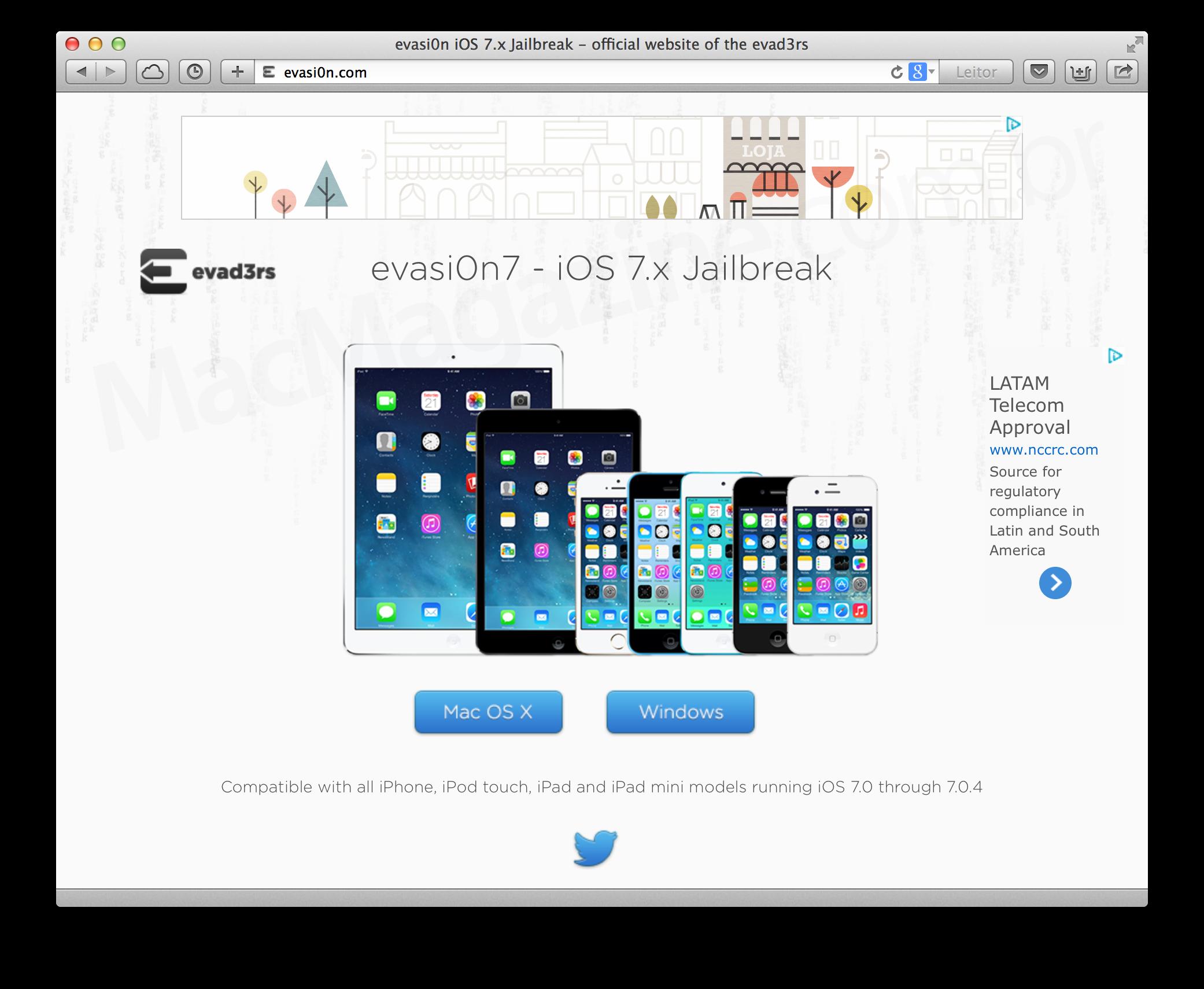 evasi0n para o iOS 7 - novo jailbreak