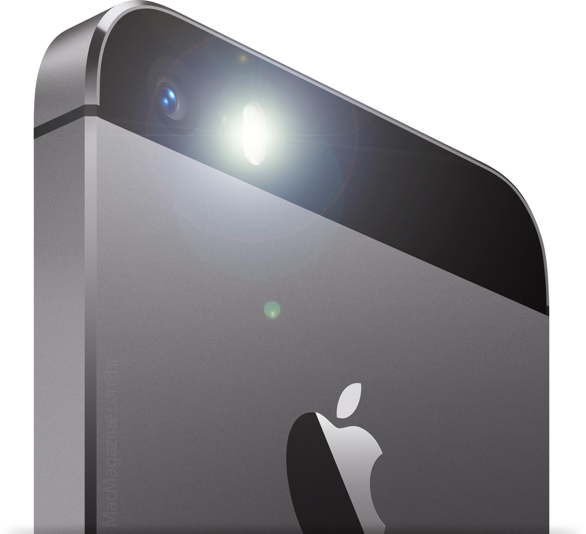 Flash do iPhone 5s ligado