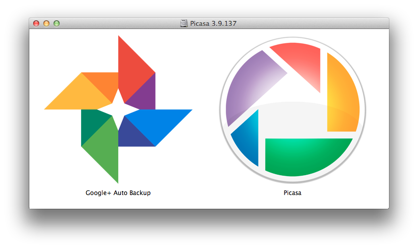 Picasa para Mac com Google+ Auto Backup