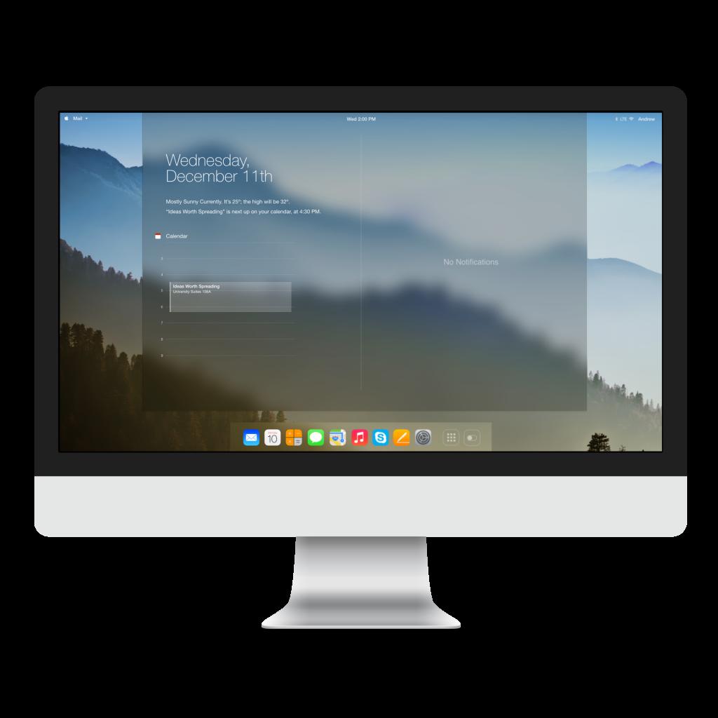 Conceito de OS XI (com um visual similar ao do iOS 7)