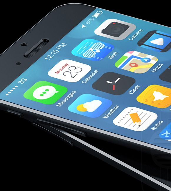 Mockup de iPhone 6 com iOS 8