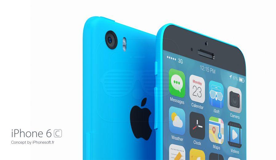 Mockup de iPhone 6c com iOS 8