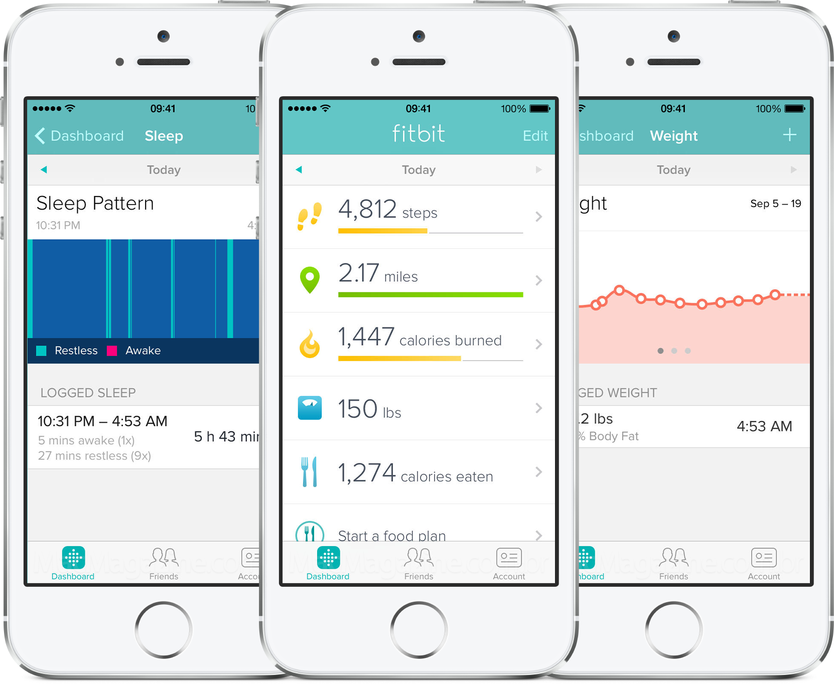 App Fitbit para iPhones/iPods touch