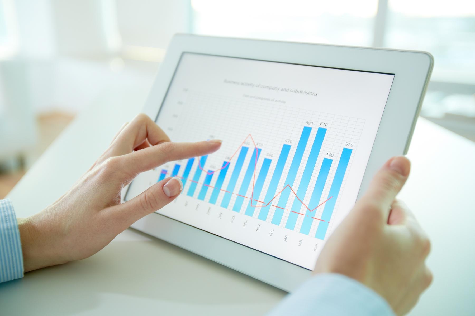 Gráfico num iPad
