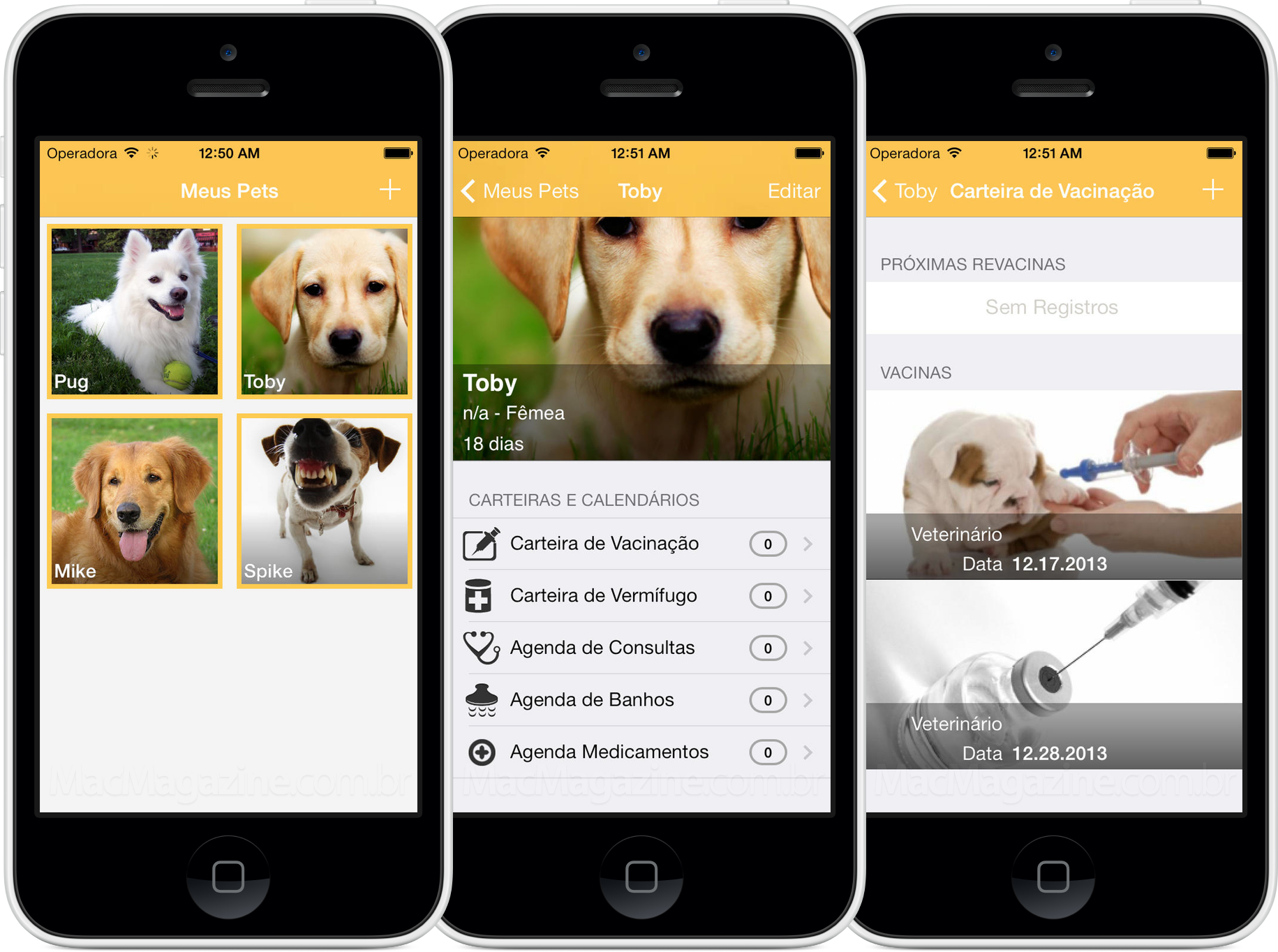 App MyPets para iPhones/iPods touch