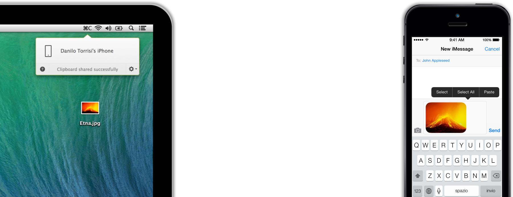 Command-C para iOS e OS X