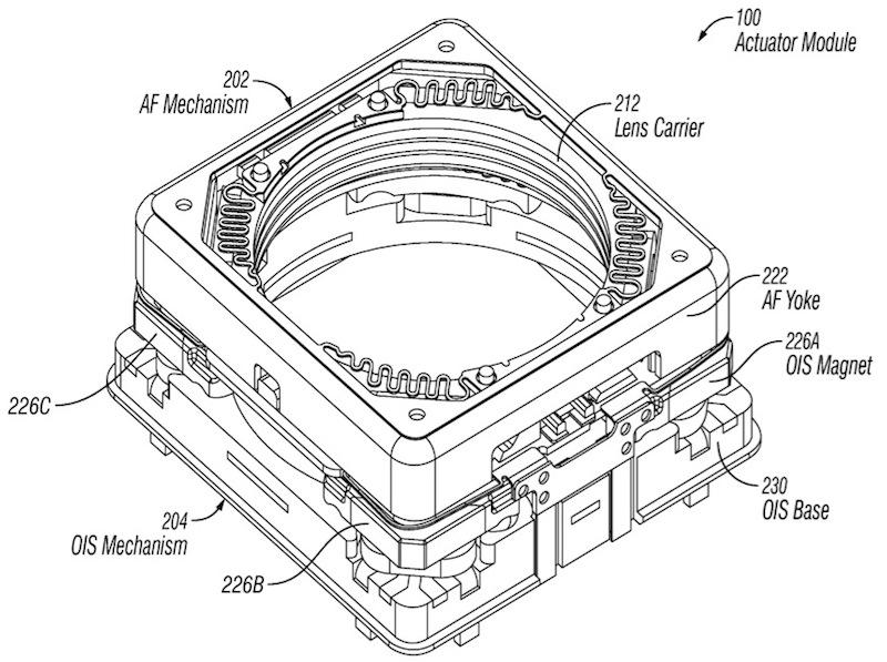 Pedido de patente da Apple - Sistema de estabilização óptico