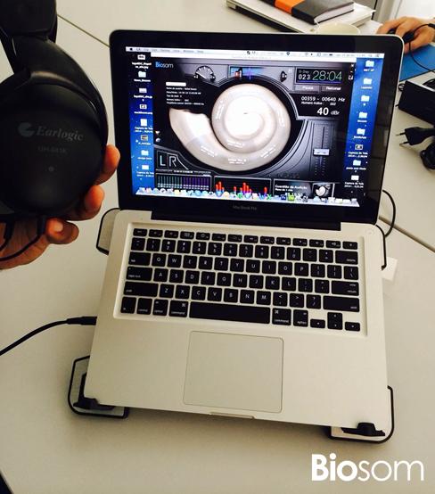 Hearing Guardian V1 rodando num MacBook Pro