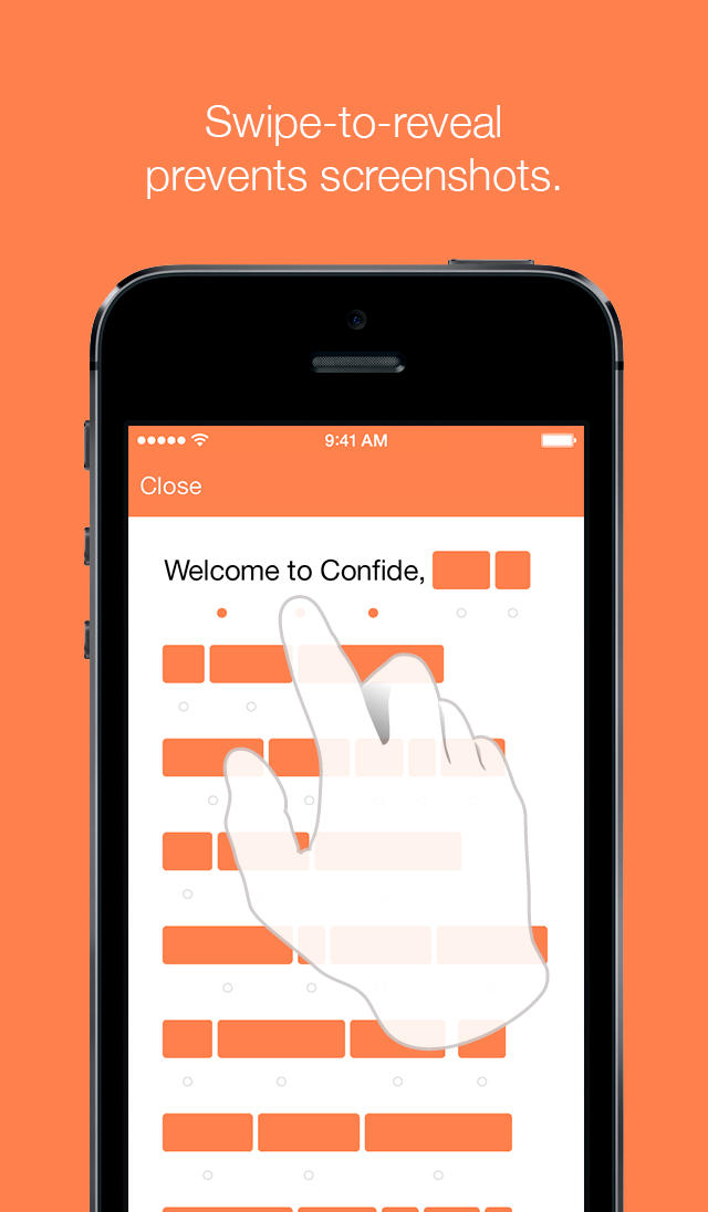 App Confide para iPhones/iPods touch