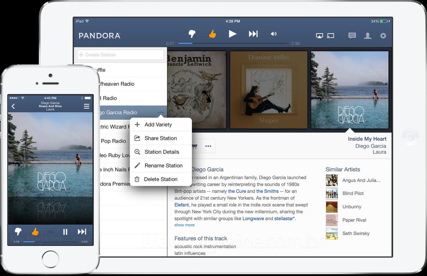 App Pandora Radio para iOS