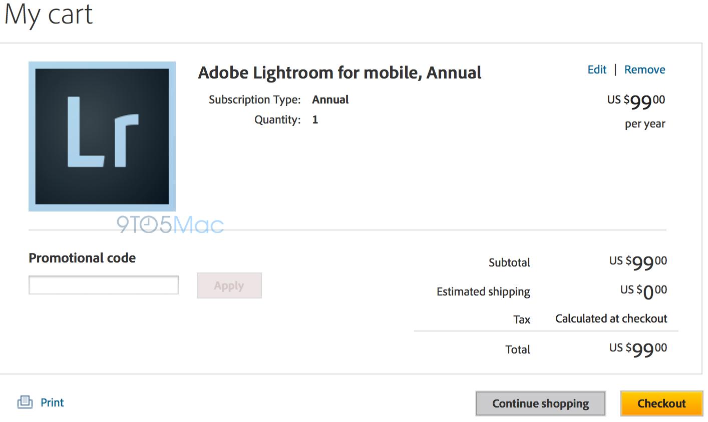 Lightroom para iPads