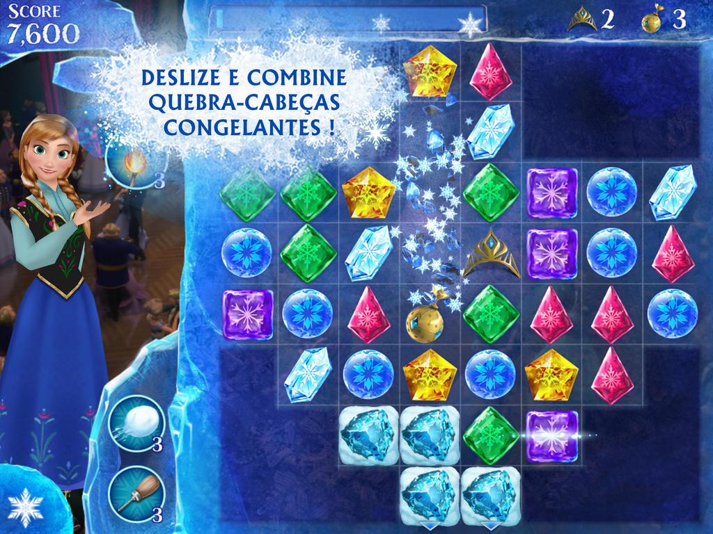 Jogo Frozen Free Fall para iOS