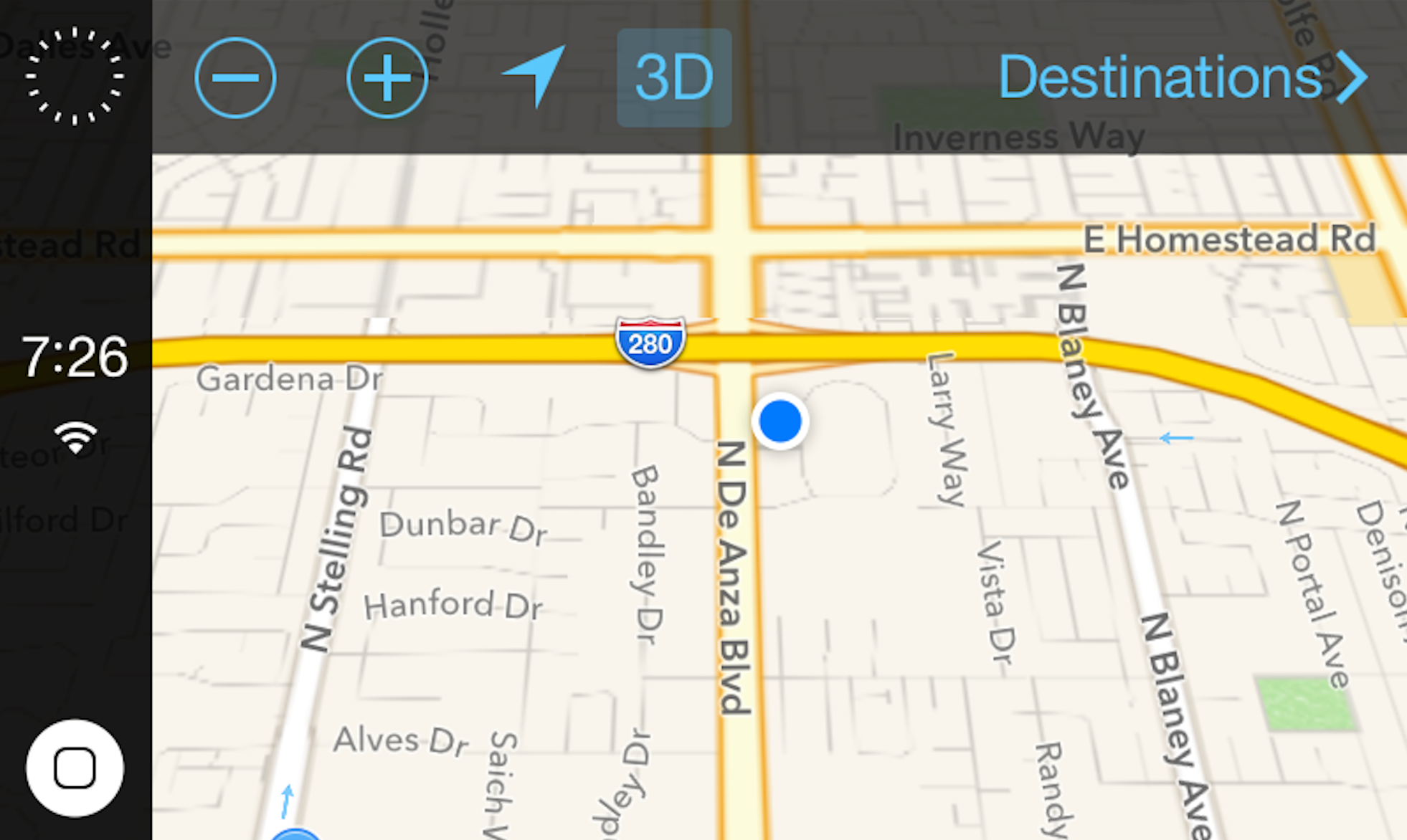 iOS no Carro (iOS 7.1 beta 4)
