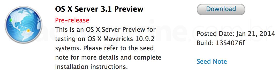 OS X Server 3.1 Preview