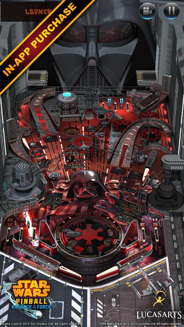 Jogo Star Wars Pinball para iOS