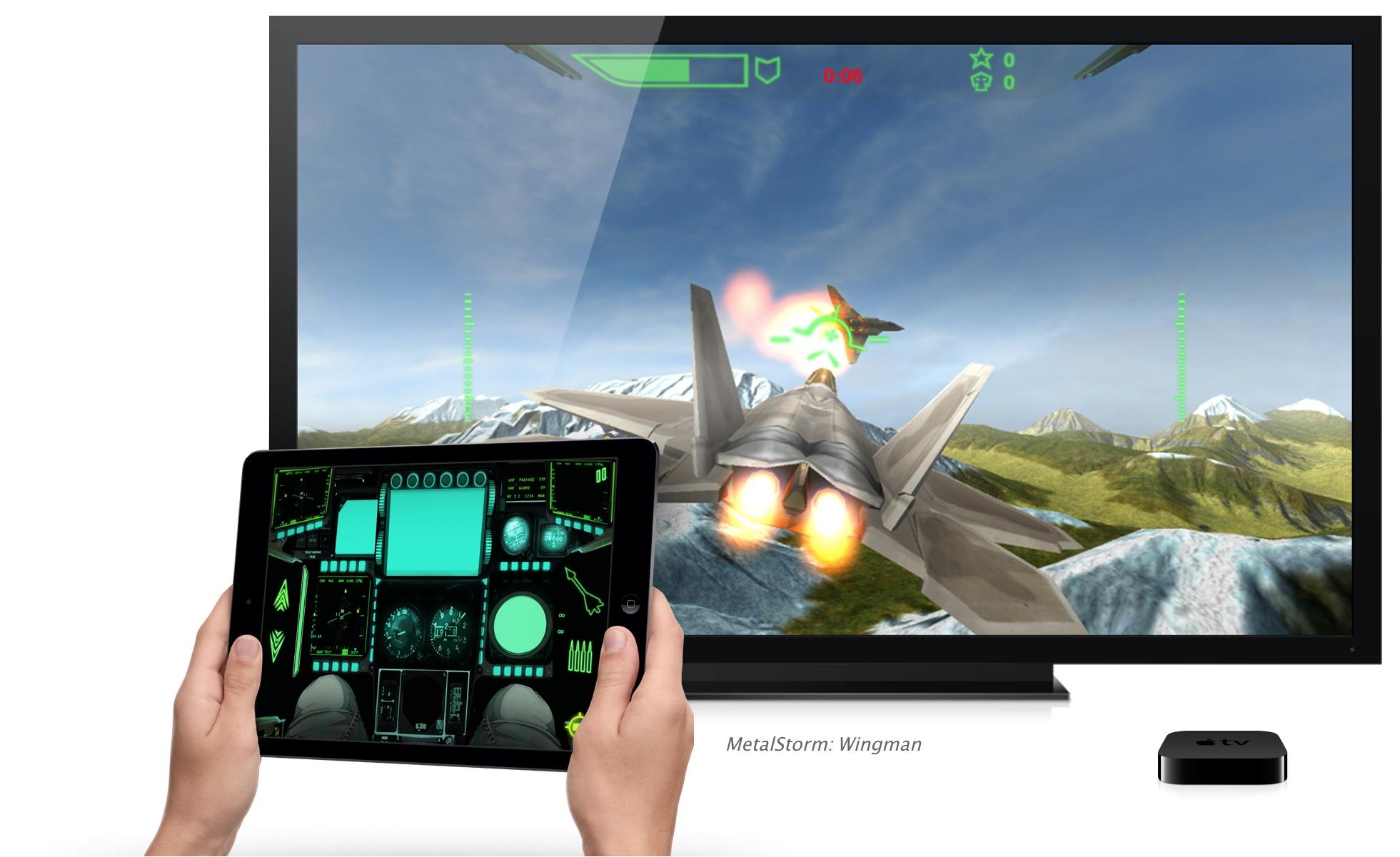 Jogando numa Apple TV pelo iPad
