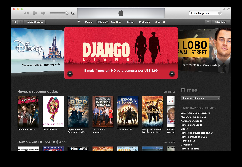 Ofertas na iTunes [Movie] Store