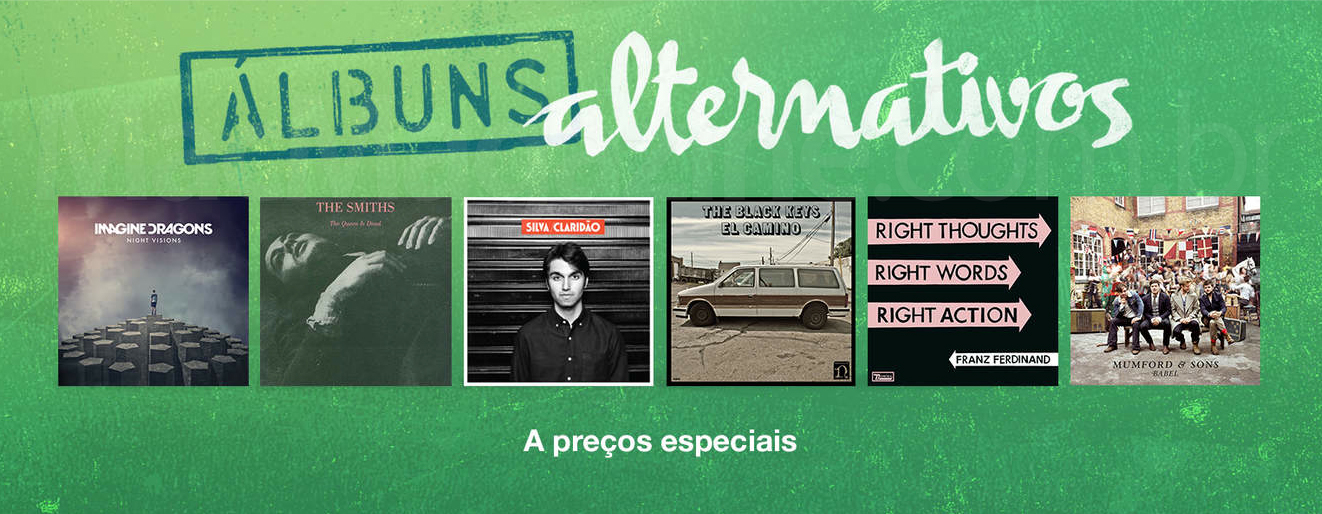 iTunes Store - álbuns alternativos a preços especiais