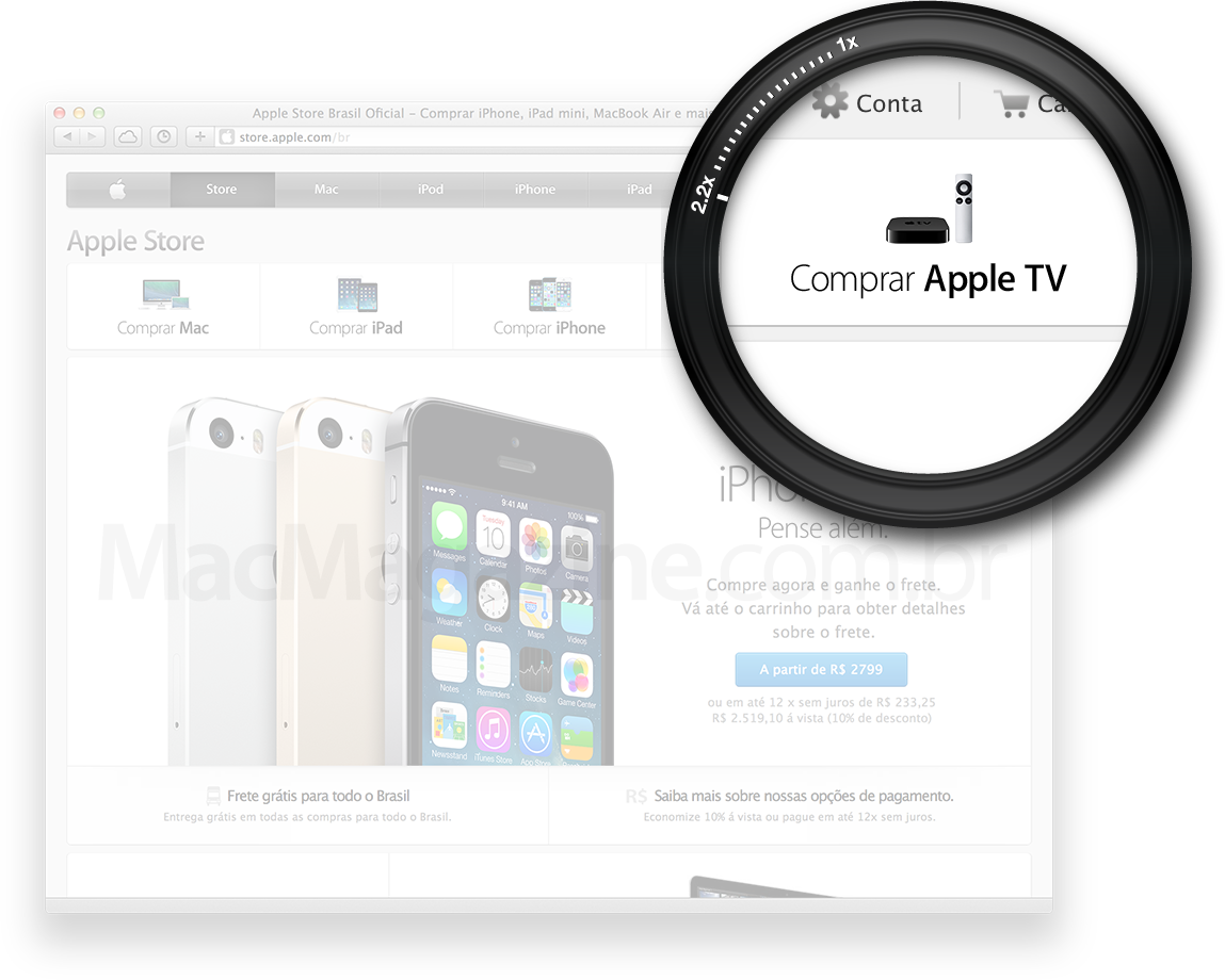Apple TV na home da Apple Online Store