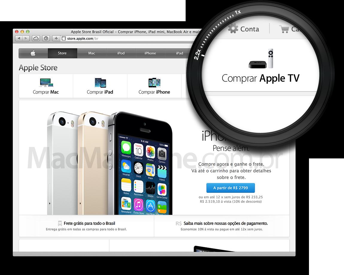 Apple TV na home da Apple Online Store