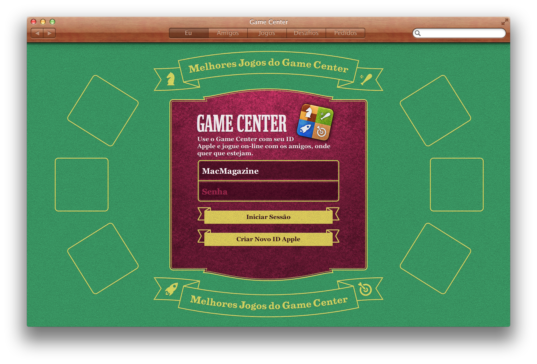 Game Center no OS X