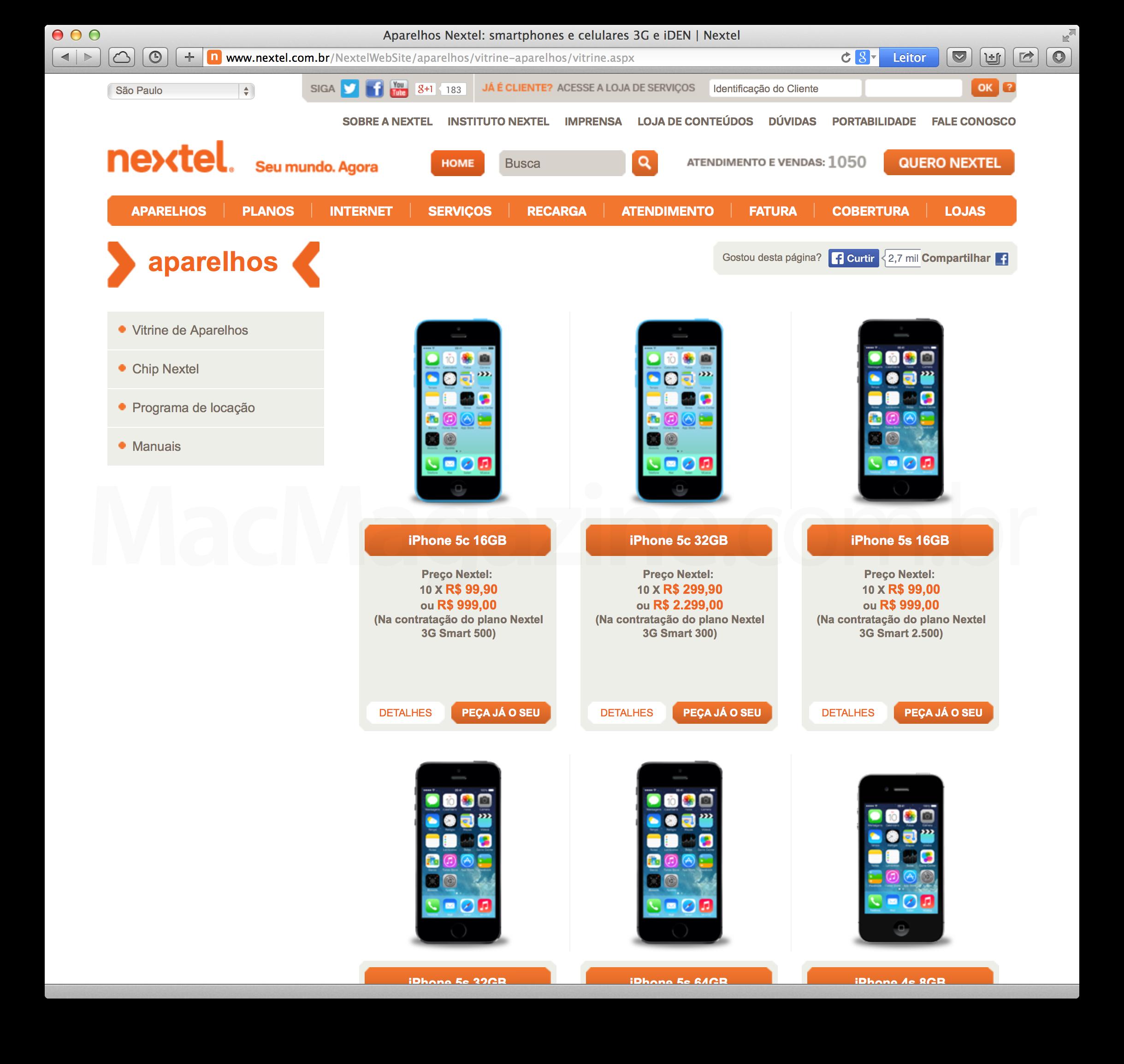 iPhones na Nextel