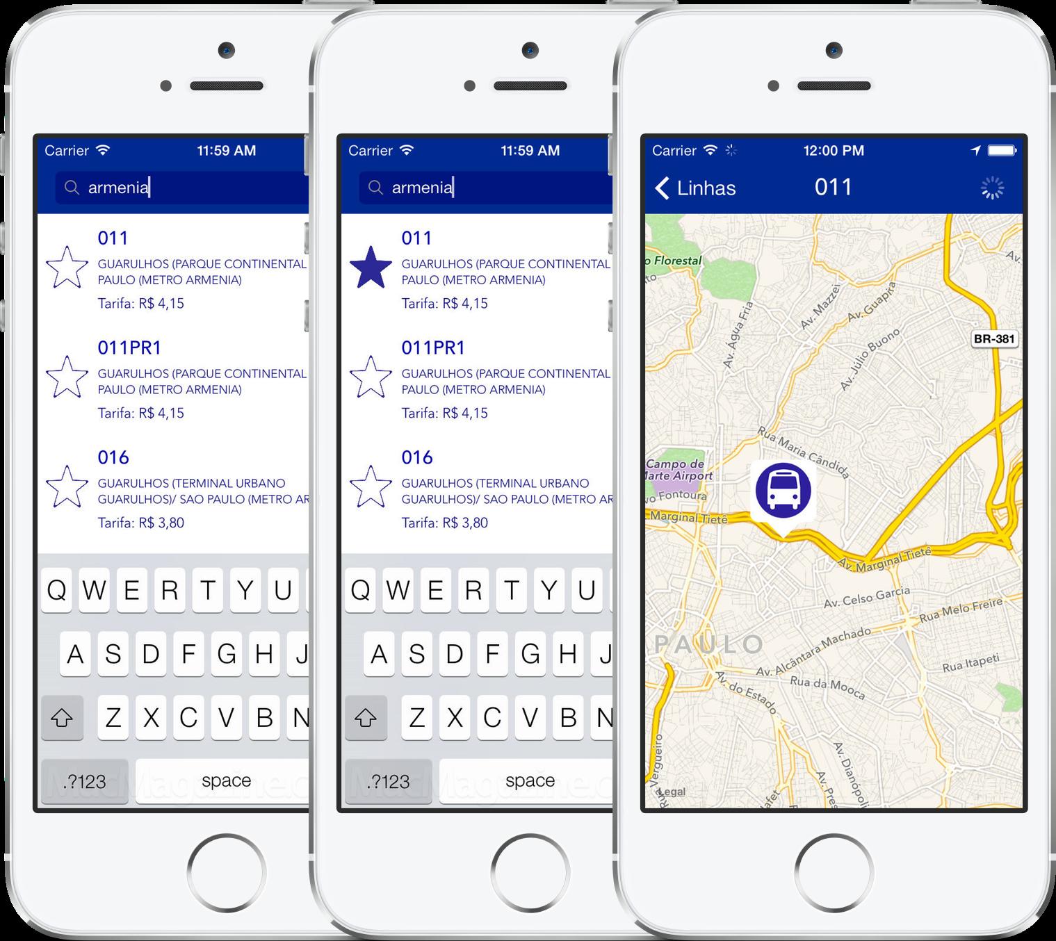 App Busão EMTU para iPhones/iPods touch