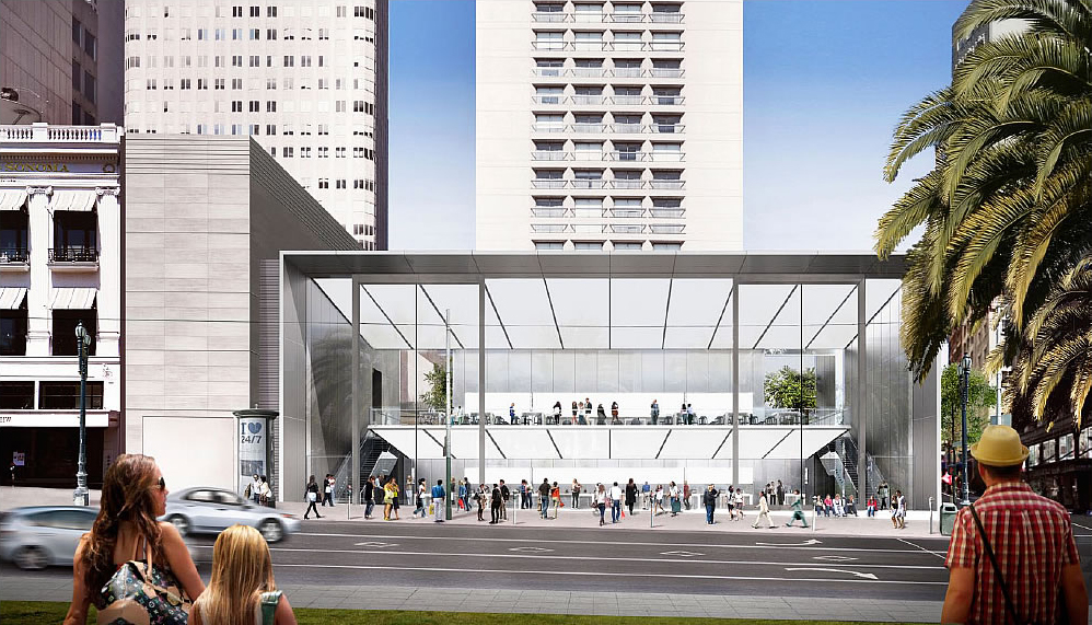 Perspectiva da nova Apple Store - San Francisco
