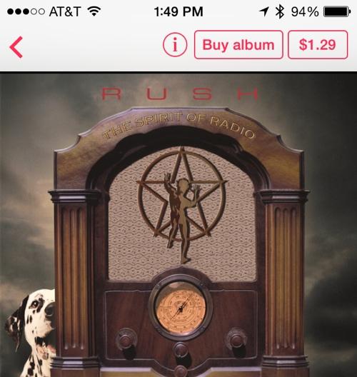 Novo botão no iTunes Radio - iOS 7.1 beta 5