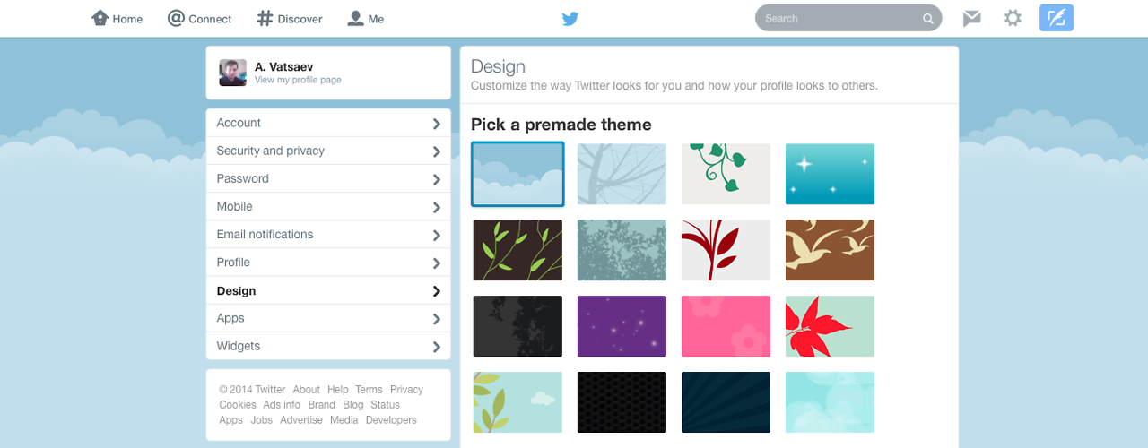 Twitter.com com barra branca